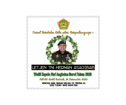 Turut Berduka Cita Atas Wafatnya WAKASAD LETJEN TNI Herman Asaribab